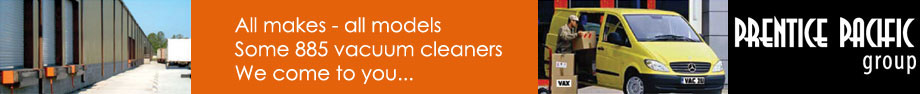 WE COME TO YOU: An extensive range of 885 vacuum cleaners.