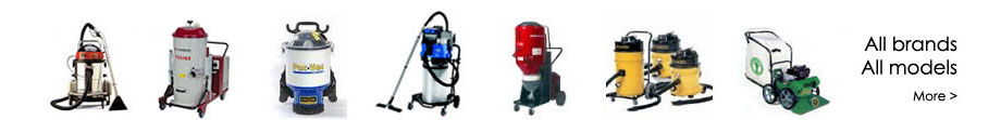 Commercial, industrial and domestic vacuums. A complete range of the best Vacuum brands in the world.