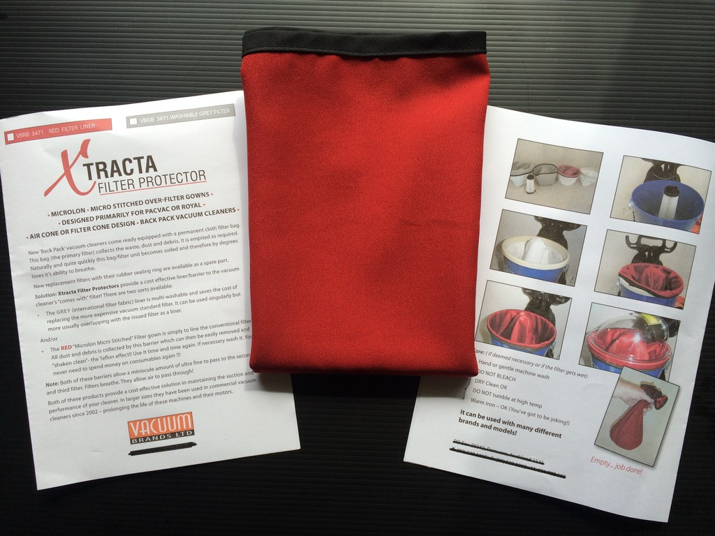 Microlone Red Bags for Back Pack vacuum cleaners and canister cleaners