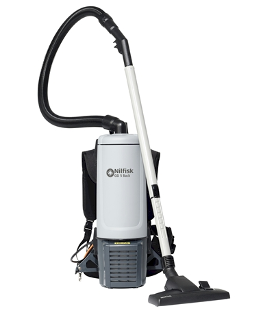 The Nilfisk GD 5/GD 10 backpack vacuum